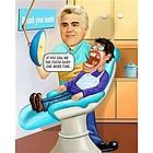 Custom Dentist Caricature from Photo