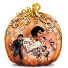 Elvis Takin' Care of Halloween Pumpkin Sculpture