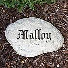 Engraved Family Establishment Garden Stone