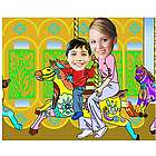 Your Photo in a Carnival Ride Caricature