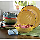 Melamine Crackle Swirl Dinnerware Set