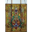 Victorian Fleur De Lis Stained Glass Window Panel