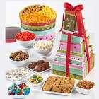 Happy Birthday Stripes Snacks 8-Tier Tower and Popcorn Tin