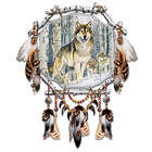 Spirit Seeker Wolf Art Dreamcatcher