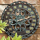 Copper Verdigris Outdoor Thermometer