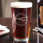 Aviator Personalized Pint Glass