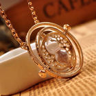 Rotating Hourglass Pendant Necklace