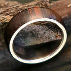 Men's Love of Nature Jacaranda Wood Ring