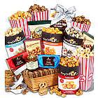 Popcorn and Gourmet Snacks Gift Basket