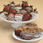 4 Dipped Cookies & 12 Swizzled Berries