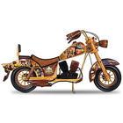 John Wayne Wooden Motorcycle Sculpture with Portrait Art