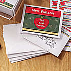 Personalized Apple Teacher Note Cards and Envelopes