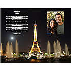 Eiffel Tower Print with Poem & Optional Photo Space