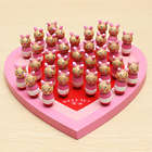 Wooden Piggies on Heart Shaped Board Solitaire Game