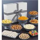 Simply White Jumbo Snack Sampler with Black & White Ribbon