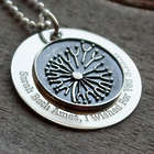 Stacked Dandelion Wish Personalized Necklace