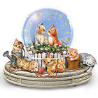 Kittens Rotating Musical Glitter Globe