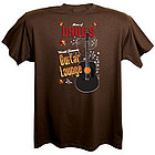 Guitar Lounge Personalized Brown T-Shirt