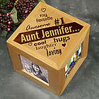 My Favorite Engraved Photo Cube