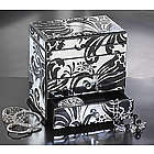 Swirled Floral Jewelry Box