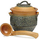 Stoneware Tureen with Ladle