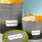Simply Stated Congratulations 3 Gallon 3 Flavor Popcorn Tin