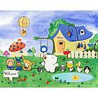 Personalized Furry Friendsville Canvas Art