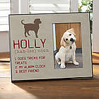 Definition of My Dog Personalized Photo Frame