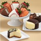 Cheesecake Trio and Sports Themed Strawberries