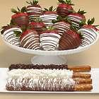 4 Caramel Pretzels & 12 Swizzled Strawberries