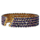 Deep Purple Crystal Fashion Cuff Bracelet