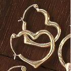 10K Gold Heart Hoop Earrings