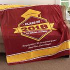 Personalized Fleece Graduation Blanket in School Colors