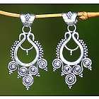 Goddess Coils Sterling Silver Dangle Earrings