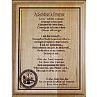 A Soldier's Prayer Personalized Wood Plaque