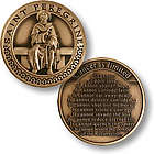 Saint Peregrine - Patron Saint of Cancer Patients Coin