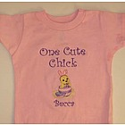 "Kids ""One Cute Chick"" Personalized Easter Shirt"
