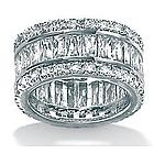 DiamonUltra Cubic Zirconia Platinum over Silver Eternity Ring