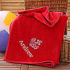 Red Personalized Beach Towel