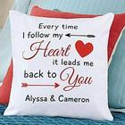 Personalized Follow My Heart Throw Pillow