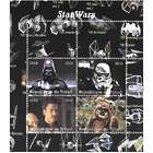 Star Wars Stamp Sheet with Darth Vader, Ewoks and Imperial Clone