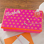 Pink and Orange Girl's Personalized Lap Desk