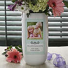 Chevron Class Personalized Photo Vase