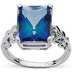 Neptune Garden Ring in 10K White Gold
