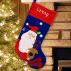 Embroidered Classic Santa Stocking