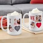 Personalized Filled With Love Photo Mug