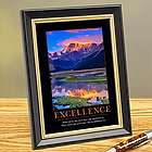 Excellence Mountain Framed Desktop Print