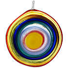 Bullseye Glass Suncatcher