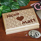 Engraved I Love You Valet Box