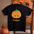 Boy's Personalized Halloween Pumpkin T-Shirt